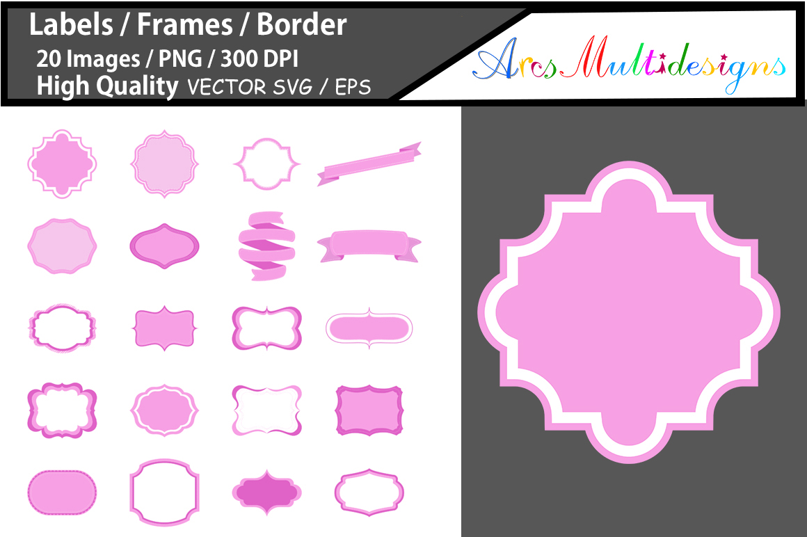 Print on Demand: Lables | Frames | Borders Graphic Graphic Templates By Arcs Multidesigns