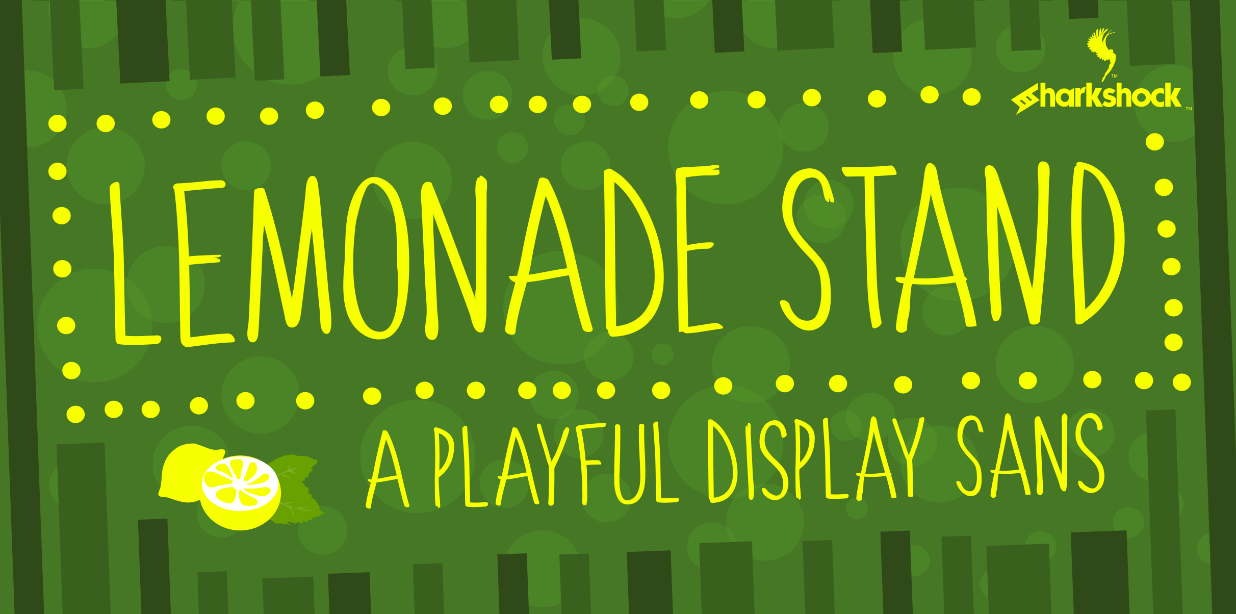 Print on Demand: Lemonade Stand Display Font By Sharkshock