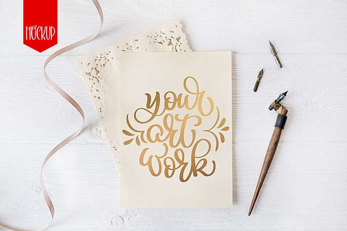 Letter Mockup Calligraphy Graphic By Happy Letters