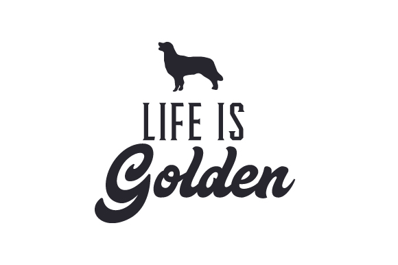 Download Free Life Is Golden Svg Cut File By Creative Fabrica Crafts for Cricut Explore, Silhouette and other cutting machines.