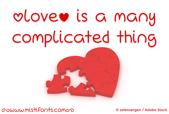 Print on Demand: Love is a Many Complicated Thing Script & Handwritten Font By Misti