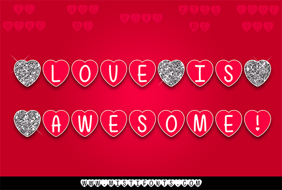 Print on Demand: Love is Awesome Decorative Font By Misti