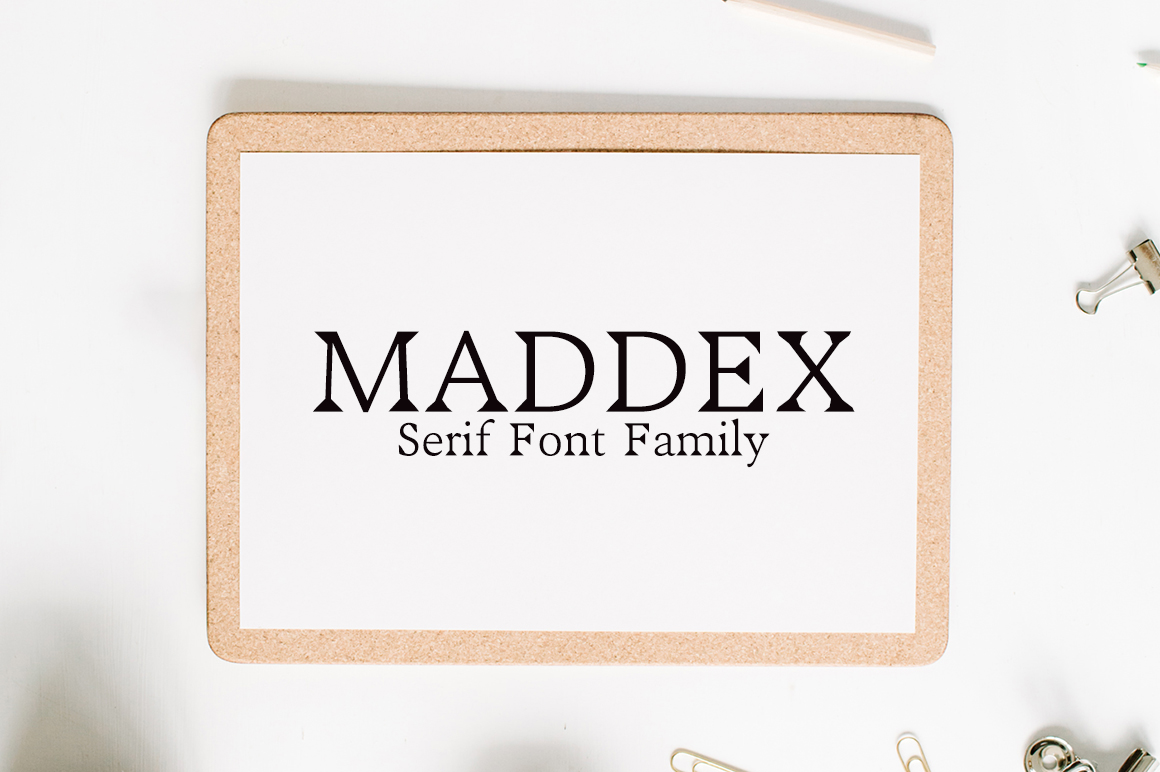 Print on Demand: Maddex Serif Font By Creative Tacos