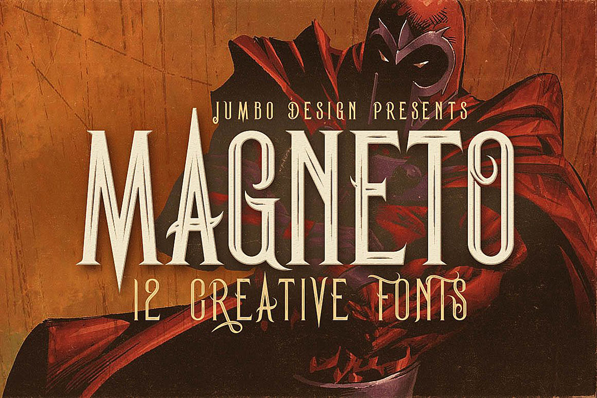 Print on Demand: Magneto Display Font By JumboDesign