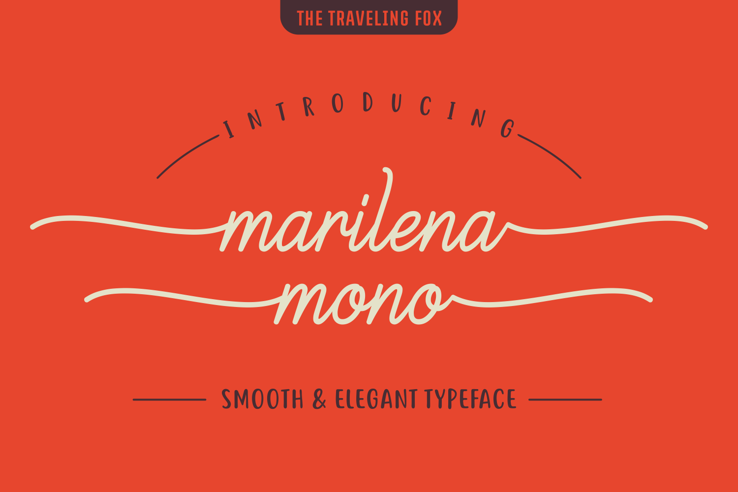 Print on Demand: Marilena Mono Script & Handwritten Font By The Traveling Fox
