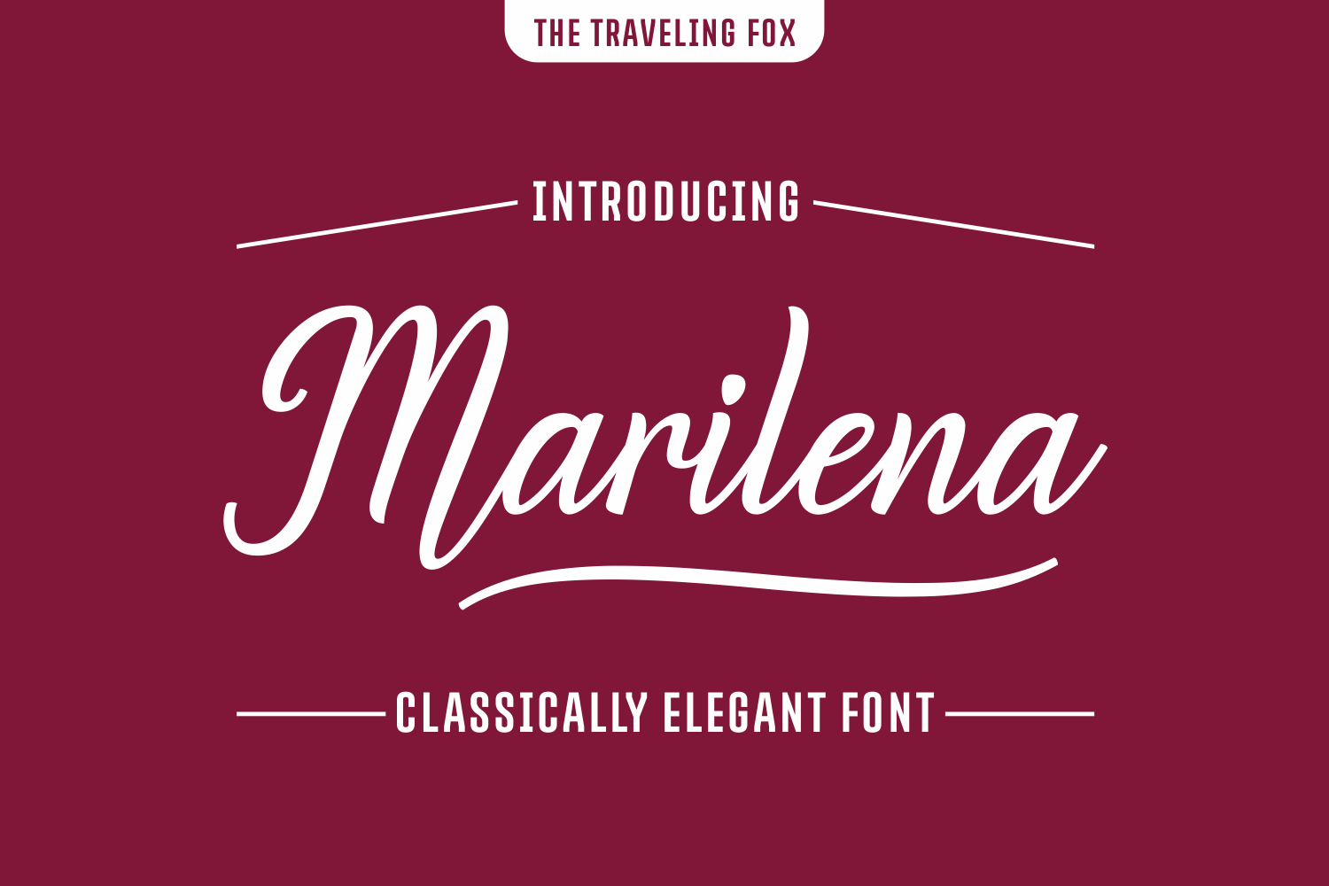 Marilena Font By The Traveling Fox
