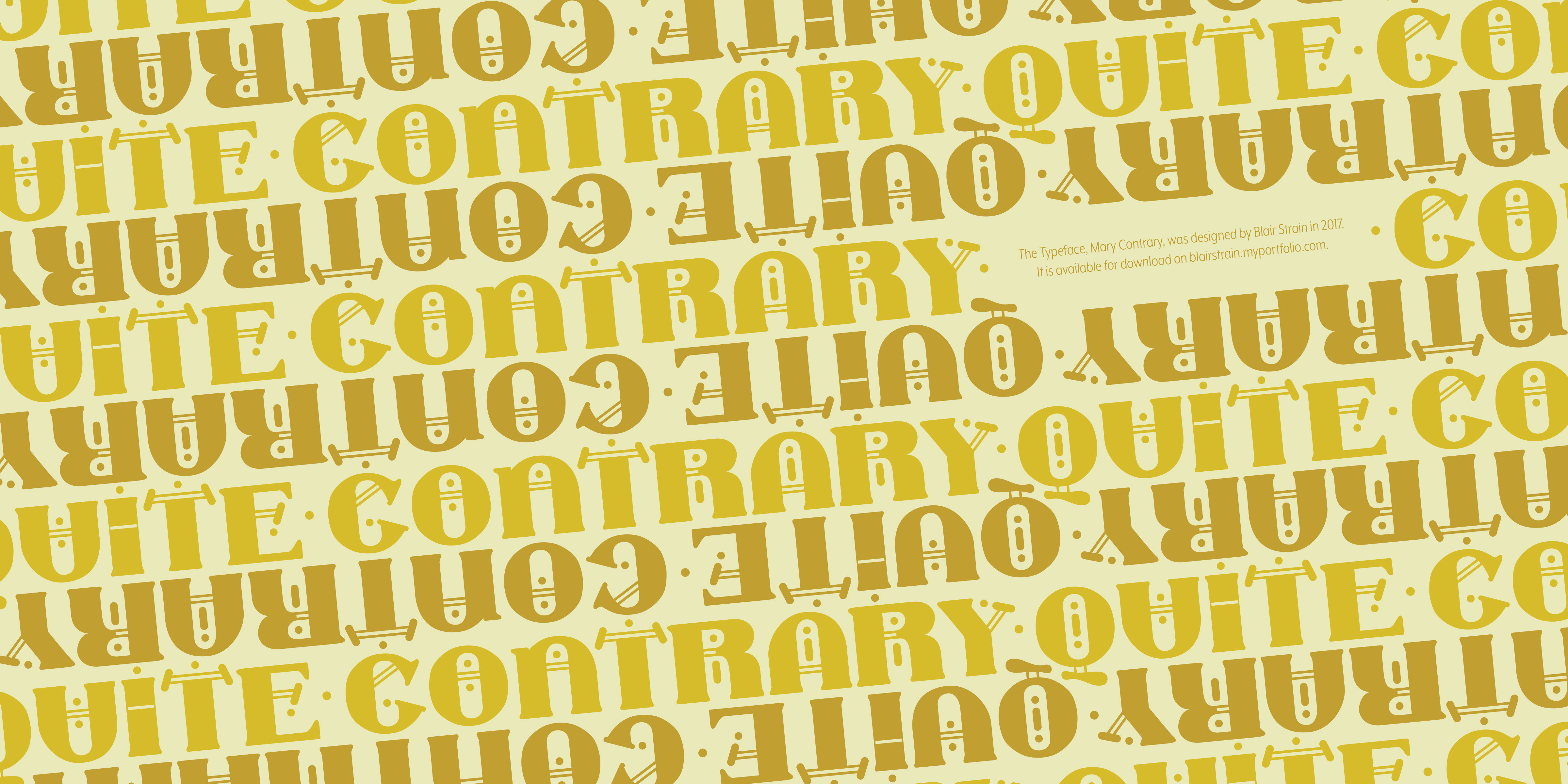 Print on Demand: Mary Contrary Display Font By blairarlene
