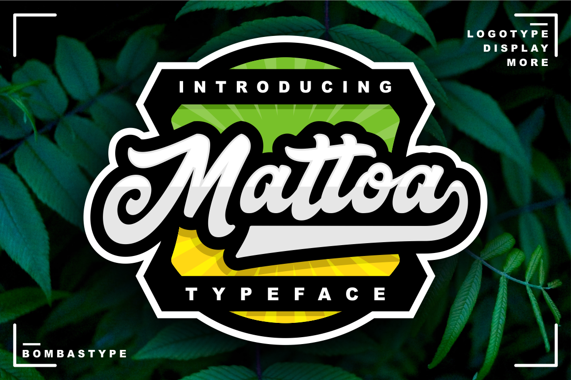 Print on Demand: Mattoa Script & Handwritten Font By bombastype