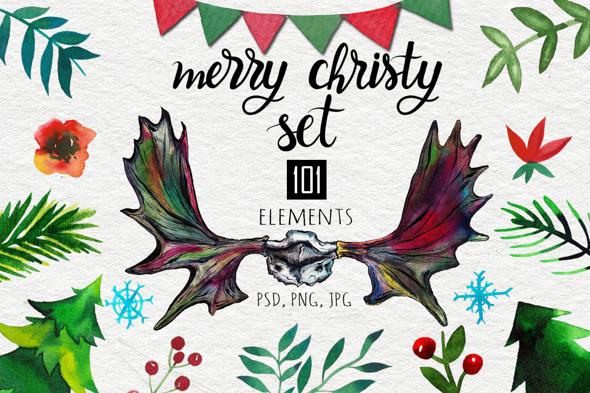 Merry Christy Set Graphic Illustrations By alisared87