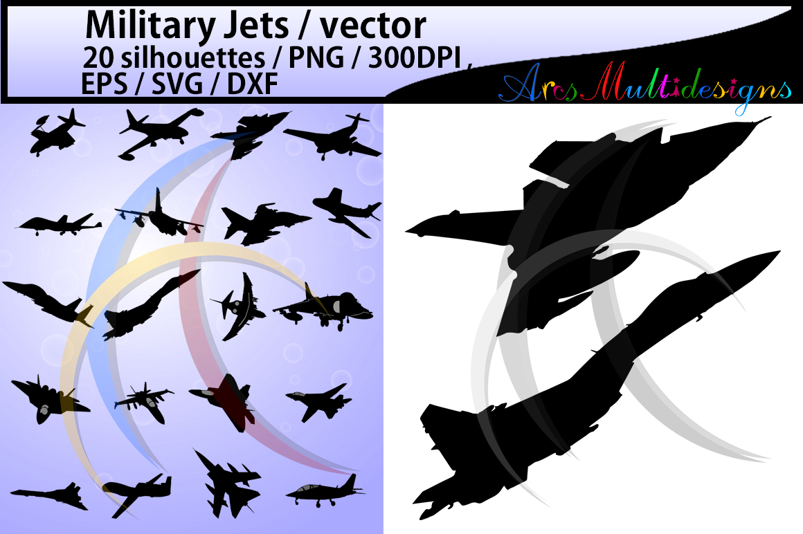 Print on Demand: Military Jet Graphic Graphic Templates By Arcs Multidesigns - Image 1