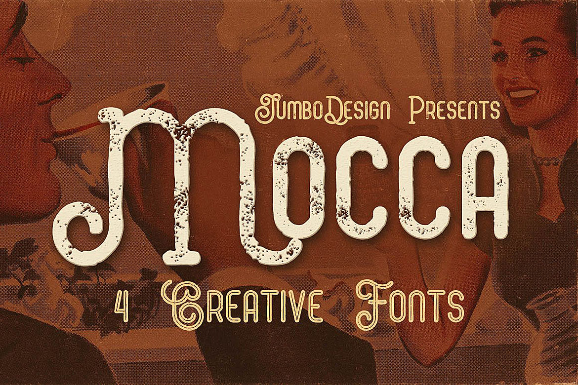 Print on Demand: Mocca Display Font By JumboDesign