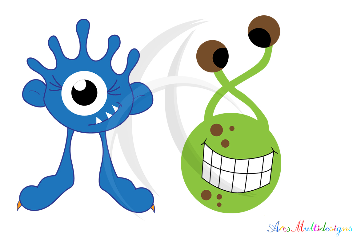 Print on Demand: Monster Characters Set Graphic Illustrations By Arcs Multidesigns - Image 2