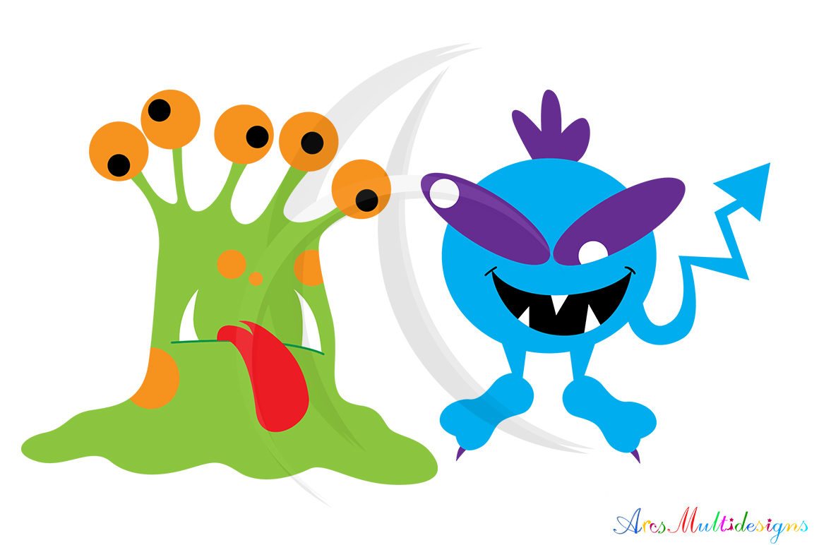 Print on Demand: Monster Characters Set Graphic Illustrations By Arcs Multidesigns - Image 3