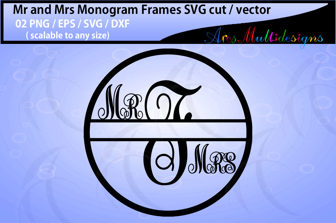 Print on Demand: Mr. and Mrs. Monogram Graphic Crafts By Arcs Multidesigns - Image 2