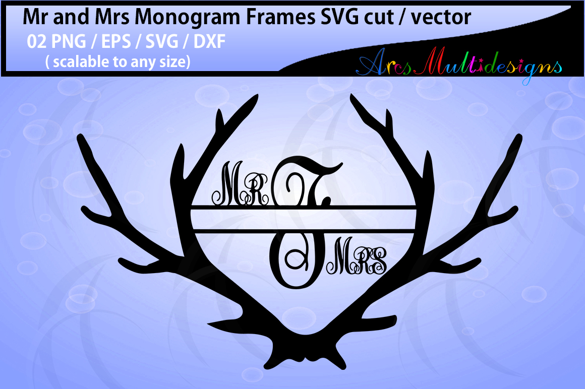 Print on Demand: Mr. and Mrs. Monogram Graphic Crafts By Arcs Multidesigns - Image 3