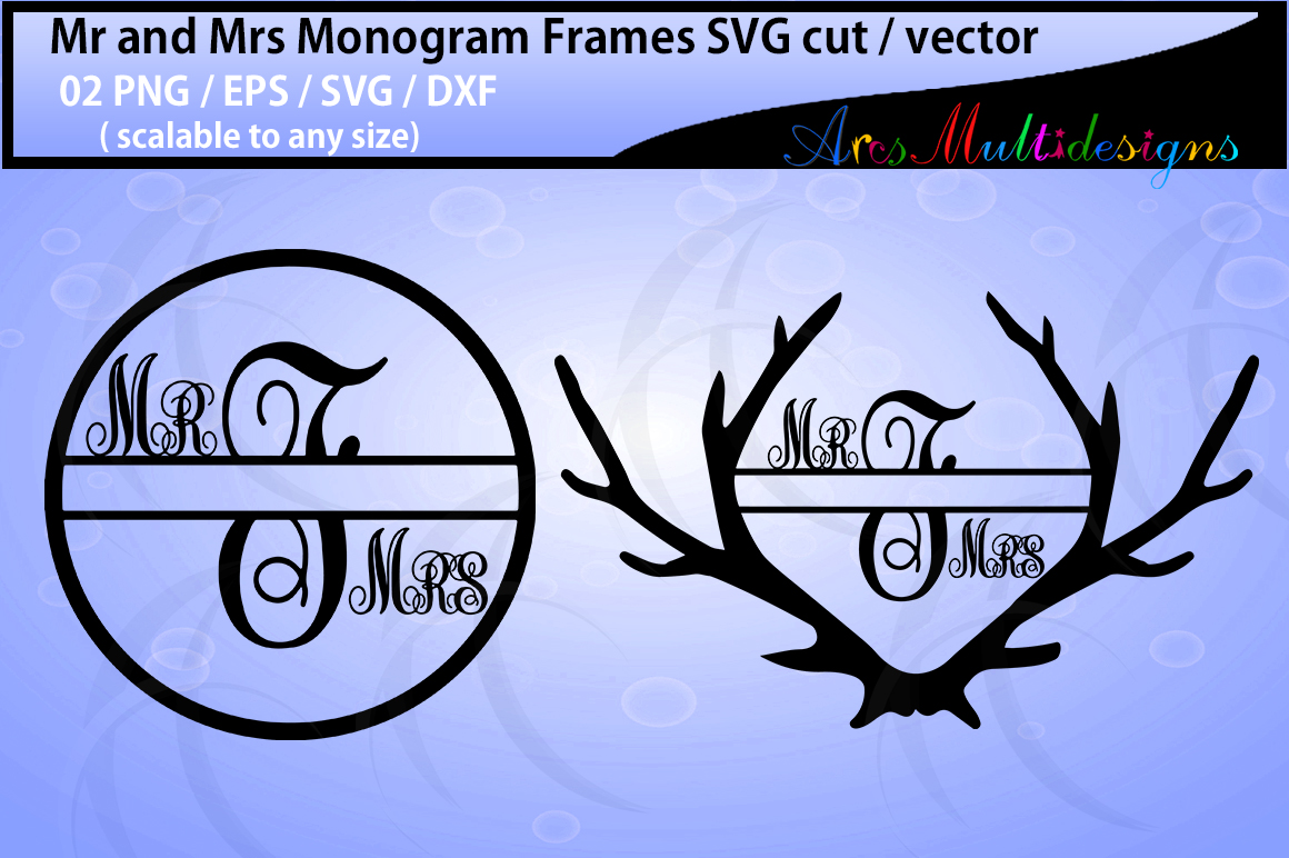 Print on Demand: Mr. and Mrs. Monogram Graphic Crafts By Arcs Multidesigns