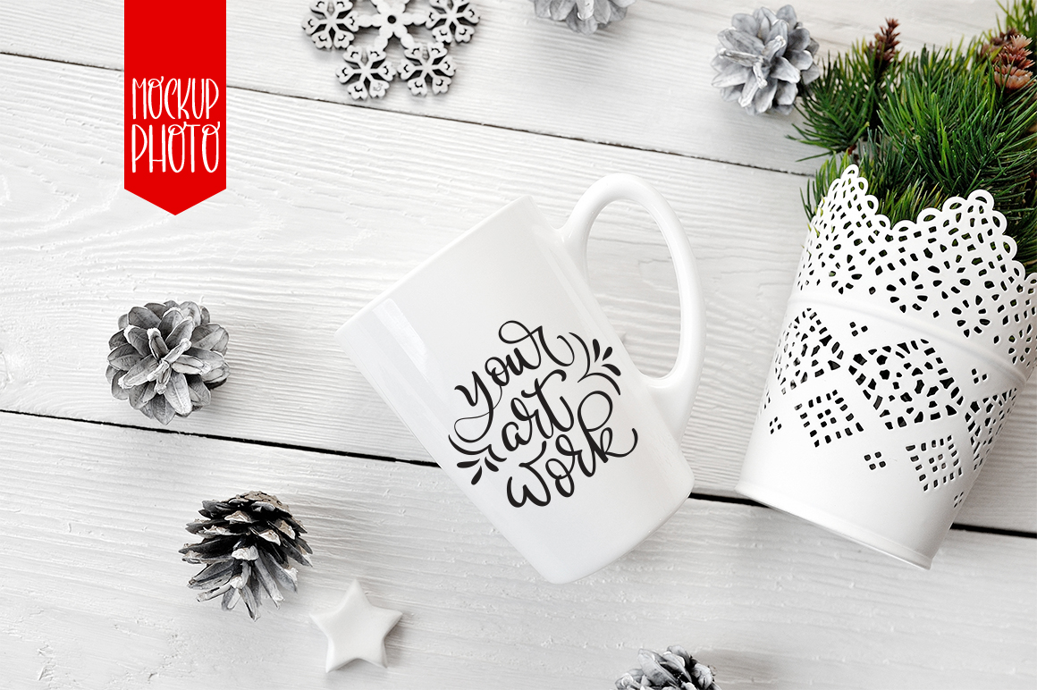 White Winter Mug Mockups Graphic Product Mockups By Happy Letters