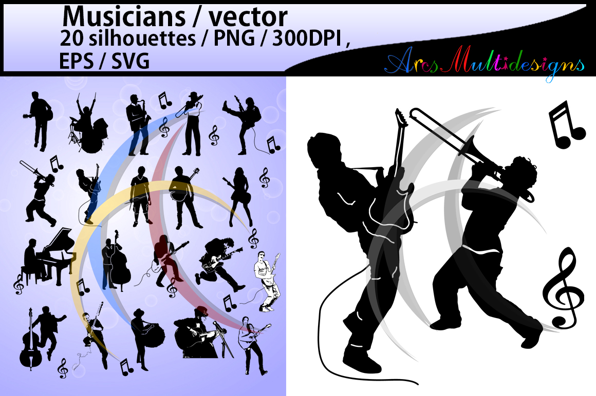 Print on Demand: Musicians Graphic Illustrations By Arcs Multidesigns