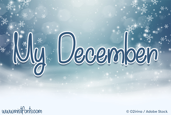Print on Demand: My December Script & Handwritten Font By Misti