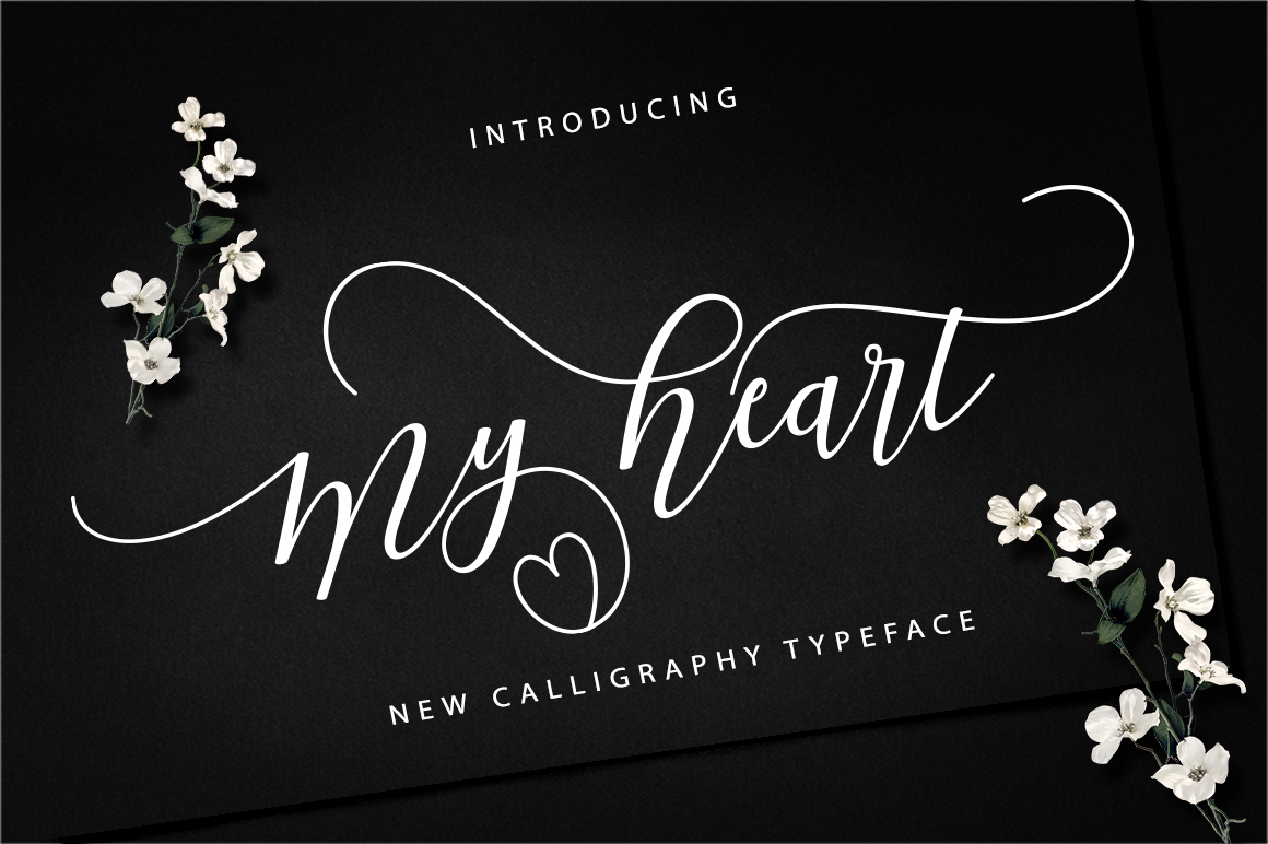 Print on Demand: My Heart Script & Handwritten Font By Vegas Type