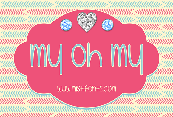 Print on Demand: My Oh My Script & Handwritten Font By Misti