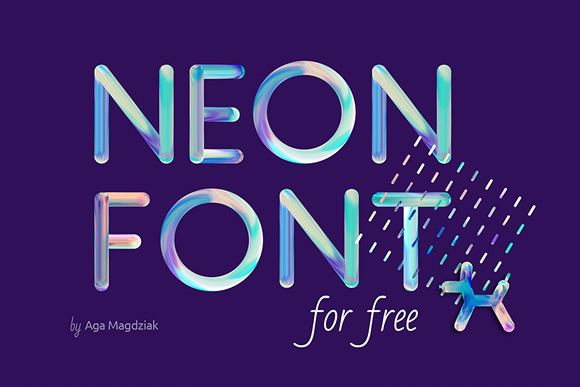 Neon Free PSD Font Graphic By Creative Fabrica Freebies