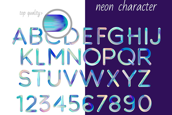 Neon Free PSD Font Graphic Preview
