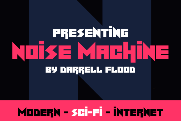 Print on Demand: Noise Machine Display Font By Dadiomouse