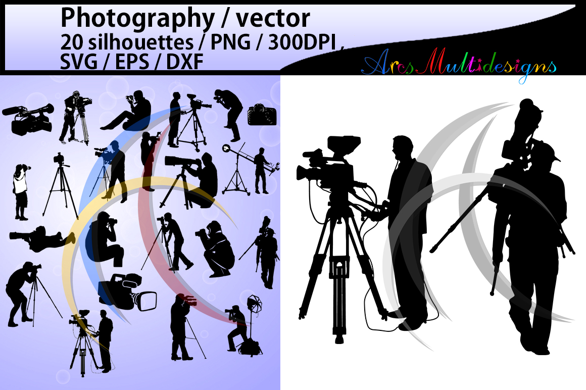 Photography Silhouette Graphic By Arcs Multidesigns