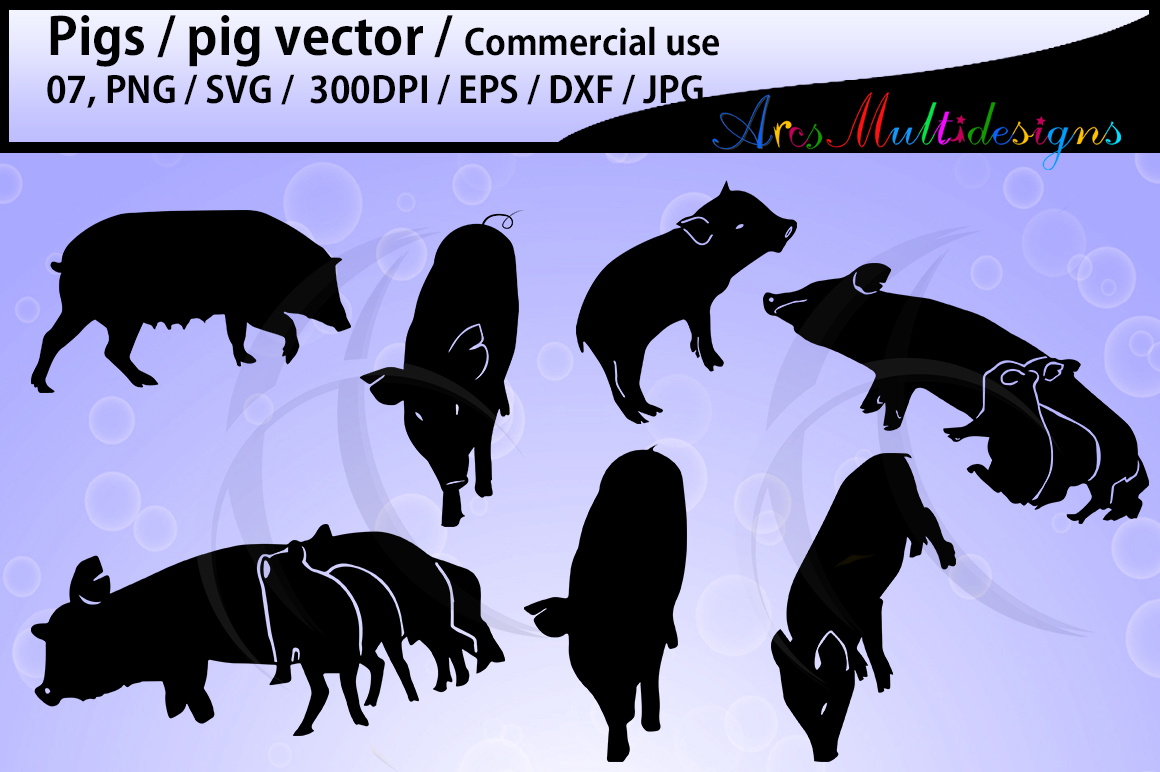 Print on Demand: Pig Vector Graphic Crafts By Arcs Multidesigns