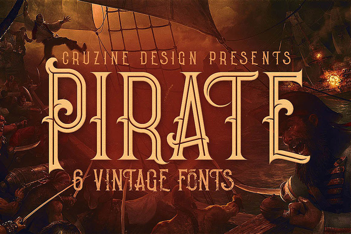 Print on Demand: Pirate Display Font By JumboDesign