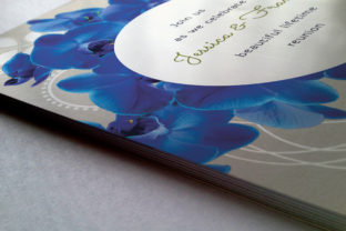 Download Free Premium Blue Orchid Wedding Invite Graphic By Lavie1blonde for Cricut Explore, Silhouette and other cutting machines.