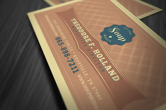 Retro Business Card Template Graphic By Jumbodesign Creative Fabrica
