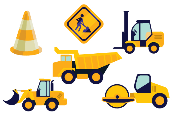 Road Construction Set Svg Cut File By Creative Fabrica Crafts