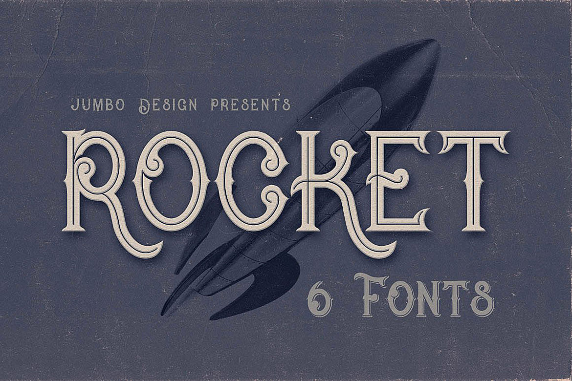 Print on Demand: Rocket Display Schriftarten von JumboDesign