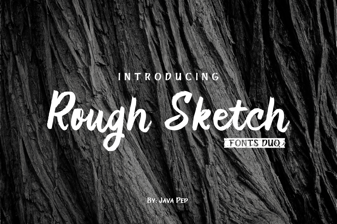 Rough Sketch Font By JavaPep