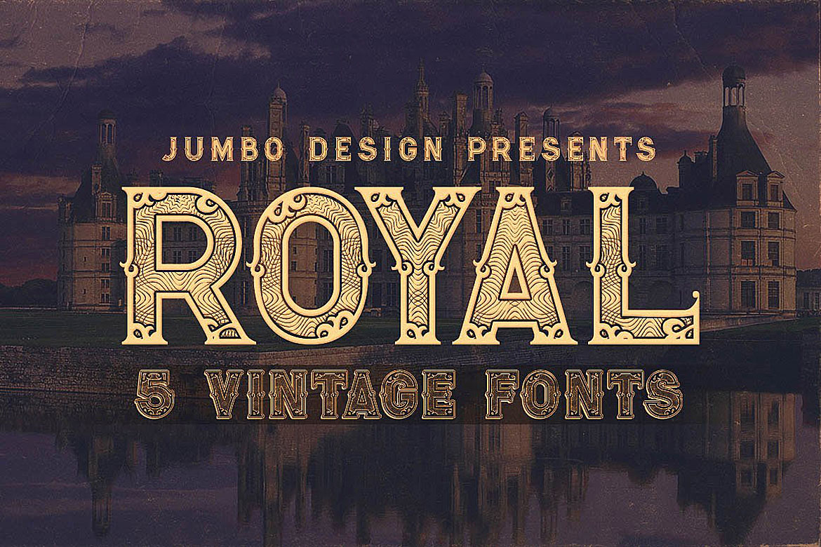 Print on Demand: Royal Display Font By JumboDesign