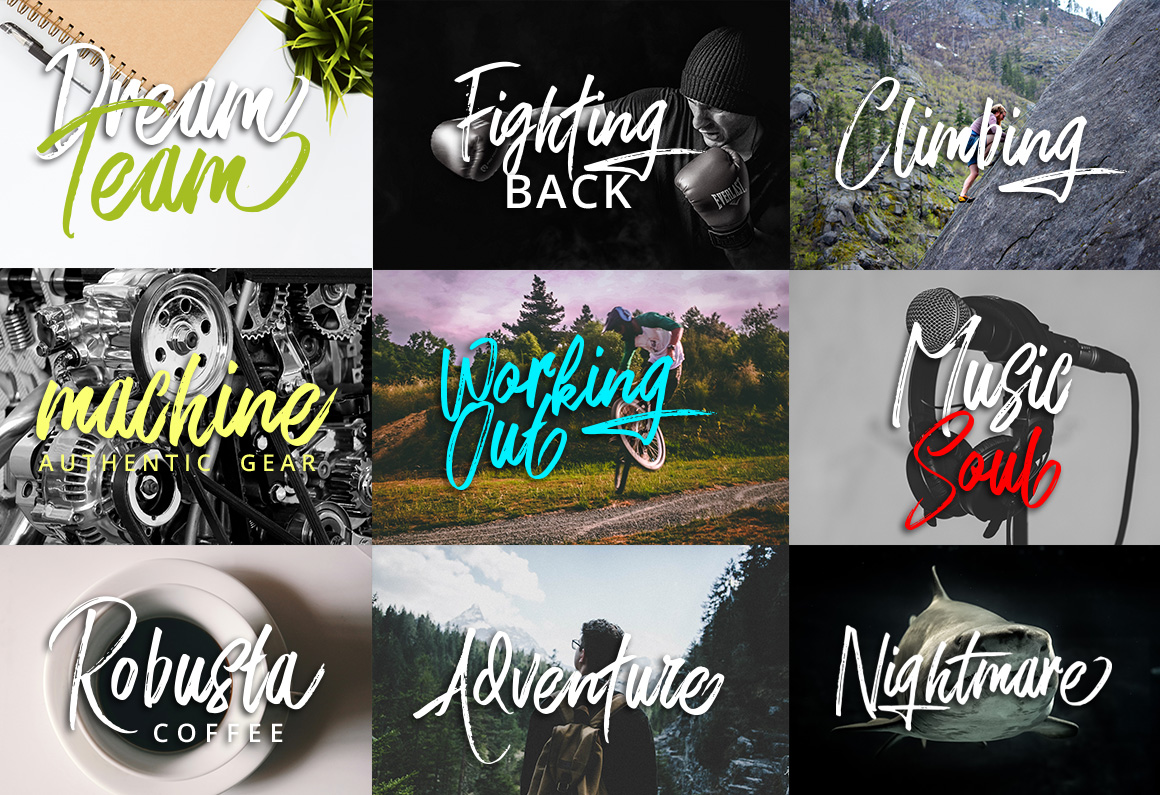 Print on Demand: Rushtard Brush Script & Handwritten Font By Ijem RockArt - Image 7