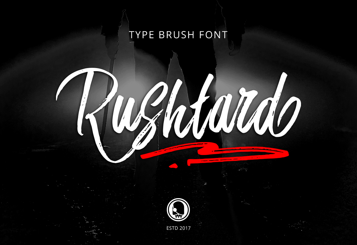 Print on Demand: Rushtard Brush Script & Handwritten Font By Ijem RockArt - Image 9