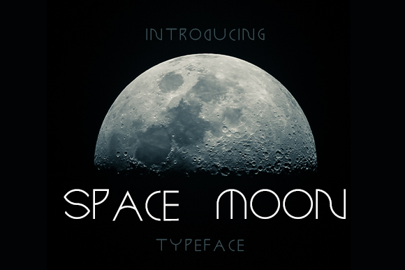Print on Demand: Space Moon Sans Serif Font By stethesign