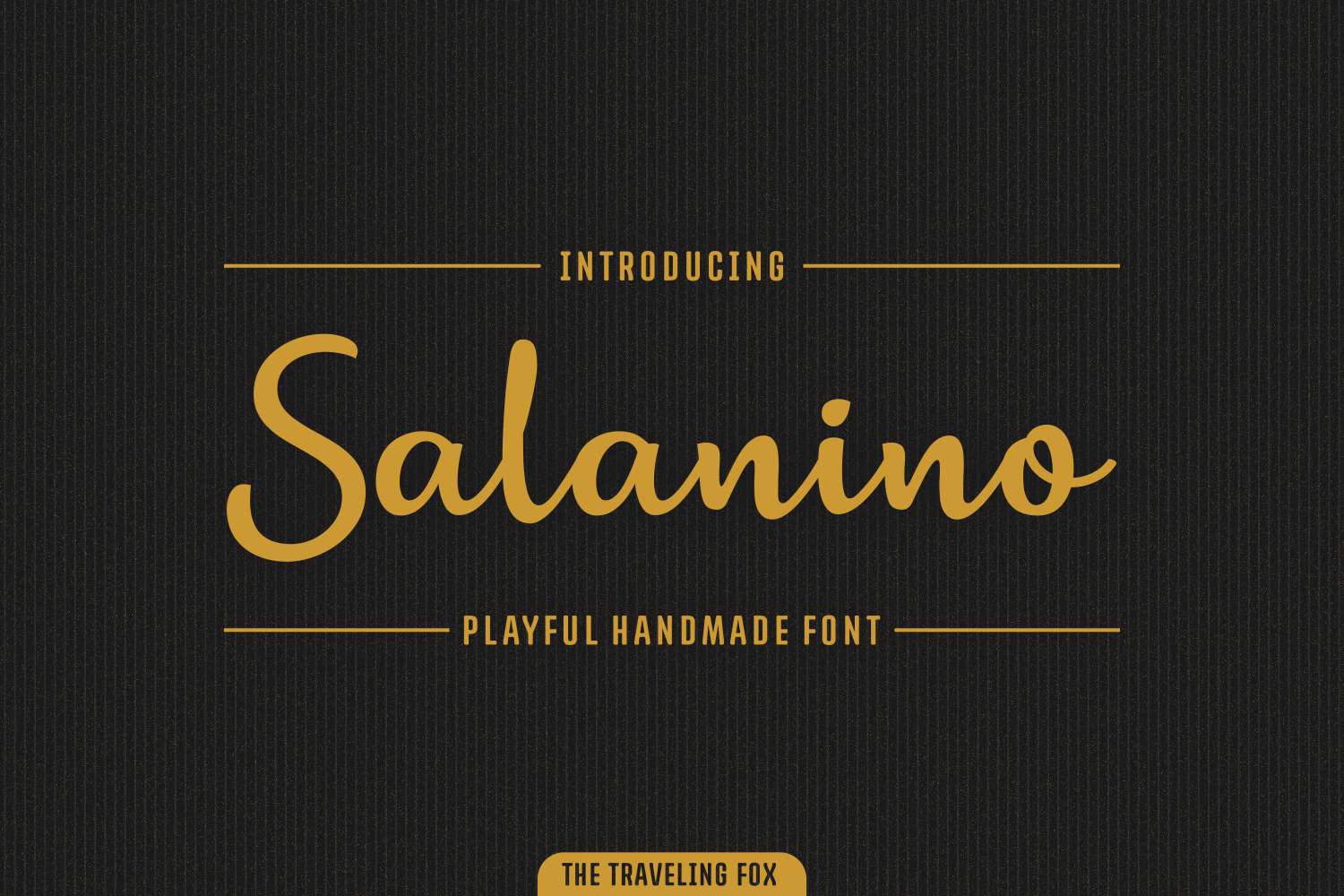 Print on Demand: Salanino Script & Handwritten Font By The Traveling Fox