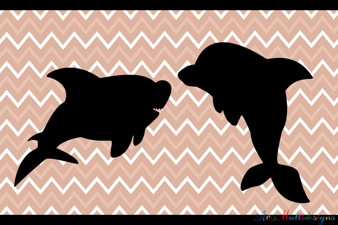 Print on Demand: Sea Animals Silhouette Graphic Crafts By Arcs Multidesigns - Image 3