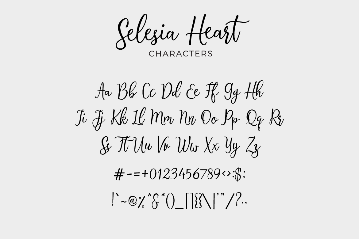 Print on Demand: Selesia Heart Script & Handwritten Font By Typia Nesia - Image 5