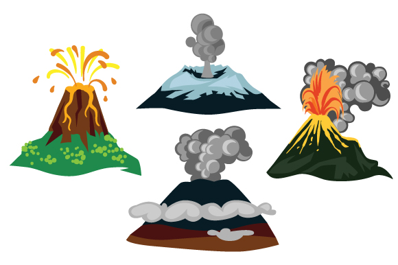 Download Free Set With 4 Different Volcano Drawings Svg Cut File By Creative for Cricut Explore, Silhouette and other cutting machines.