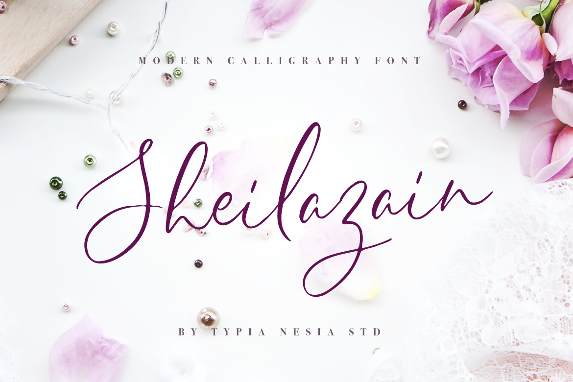 Print on Demand: Sheilazain Script & Handwritten Font By Typia Nesia
