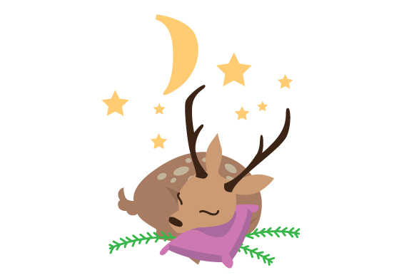 Download Free Sleepy Deer Svg Cut File By Creative Fabrica Crafts Creative for Cricut Explore, Silhouette and other cutting machines.