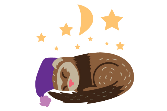 Download Free Sleepy Ferret Svg Cut File By Creative Fabrica Crafts Creative for Cricut Explore, Silhouette and other cutting machines.