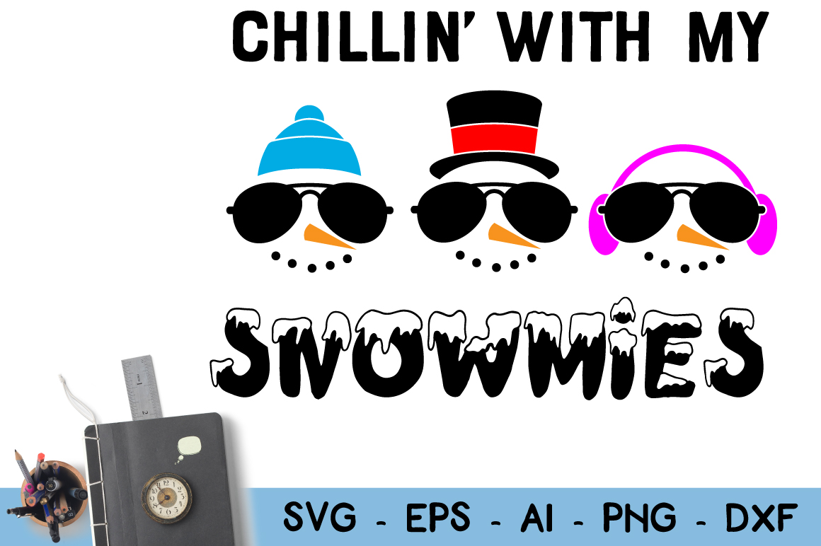 Download Free Snowman Faces Clipart Chillin With My Snowmies Graphic By for Cricut Explore, Silhouette and other cutting machines.