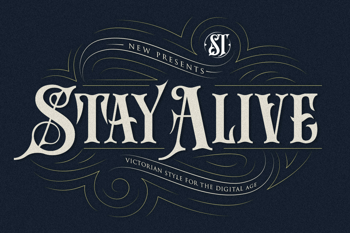 Print on Demand: Stay Alive Display Schriftarten von storictype