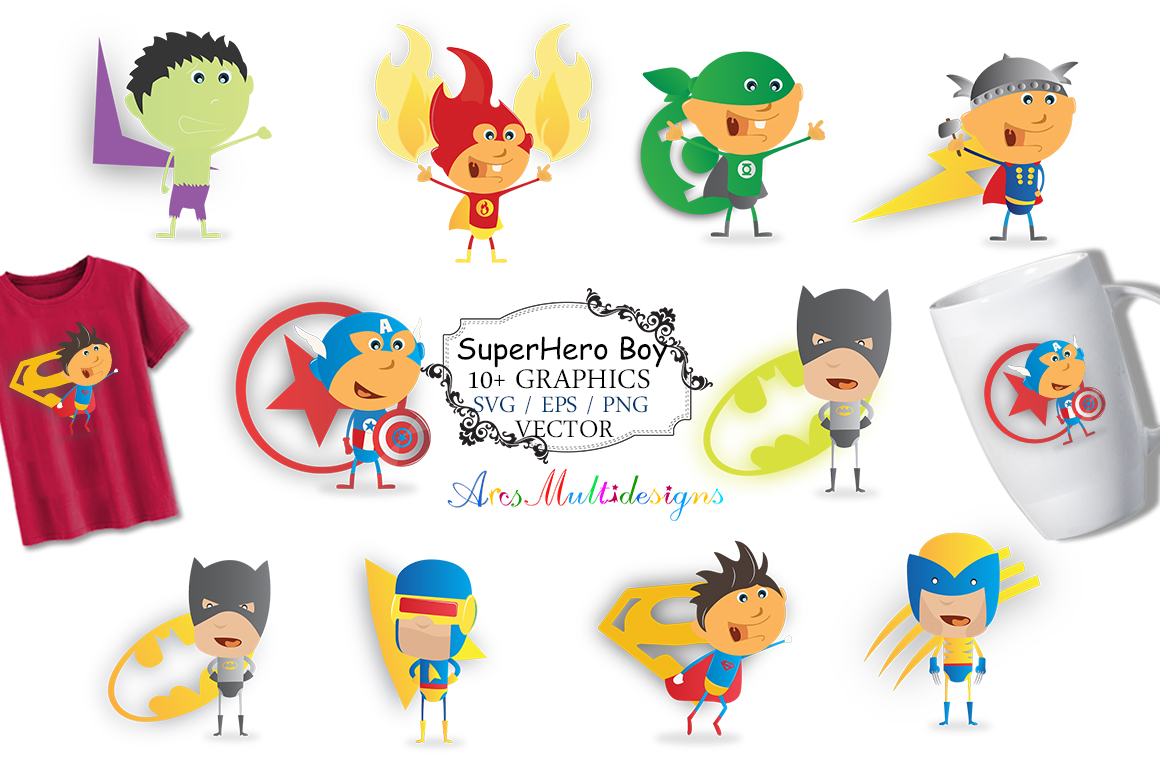 Print on Demand: Super Hero Graphics and Illustrations Graphic Illustrations By Arcs Multidesigns